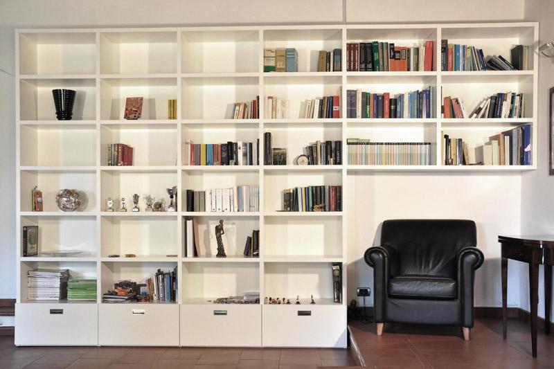 Arte del legno landi libreria ponte librerie realizzazioni - Libreria a ponte ikea ...